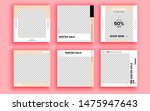 set of sale banner template... | Shutterstock .eps vector #1475947643
