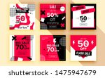 set of sale banner template... | Shutterstock .eps vector #1475947679