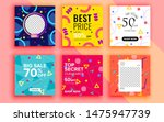 set of sale banner template... | Shutterstock .eps vector #1475947739