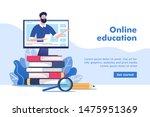 online education or business... | Shutterstock .eps vector #1475951369