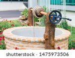 Ancient artesian well made by...