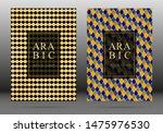 arabesque pattern vector cover... | Shutterstock .eps vector #1475976530