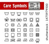 icon set of laundry and care... | Shutterstock .eps vector #1475979500