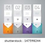 modern business steb origami... | Shutterstock .eps vector #147598244