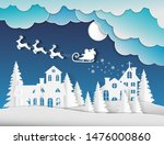 winter landscape with houses... | Shutterstock .eps vector #1476000860
