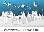 winter landscape with houses... | Shutterstock .eps vector #1476000863