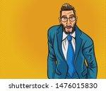 pop art man screams in horror ...   Shutterstock .eps vector #1476015830