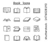 book icon set in thin line style | Shutterstock .eps vector #1476028193