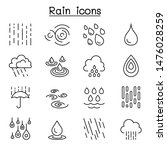 rain icon set in thin line style | Shutterstock .eps vector #1476028259