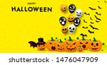 happy halloween banner. scary... | Shutterstock .eps vector #1476047909