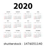 Calendar 2020 Isolated On Whit...