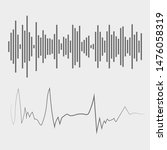 sound waves. audio waves.... | Shutterstock . vector #1476058319