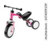 Pink black baby balance bike...