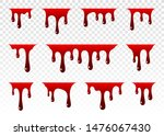 dripping blood. paint dripping. ... | Shutterstock .eps vector #1476067430