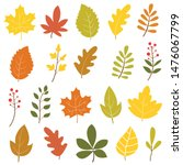set of colorful autumn leaves... | Shutterstock .eps vector #1476067799