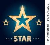 retro hollywood stars frame... | Shutterstock . vector #1476091019