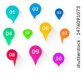 number bullet points flat... | Shutterstock . vector #1476091073