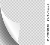 page curl stylish on white...   Shutterstock . vector #1476091136