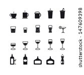 drink icons set | Shutterstock .eps vector #147609398