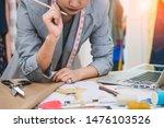 attractive female fashion...   Shutterstock . vector #1476103526