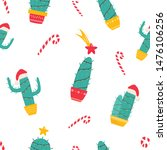 christmas seamless pattern with ... | Shutterstock .eps vector #1476106256