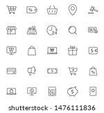 e commerce outline vector icons ... | Shutterstock .eps vector #1476111836