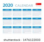 vector template of color 2020... | Shutterstock .eps vector #1476122033