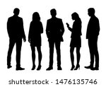 vector silhouettes of  men and... | Shutterstock .eps vector #1476135746