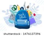 back to school banner.... | Shutterstock .eps vector #1476137396