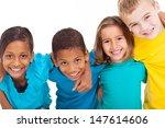 group of multiracial kids... | Shutterstock . vector #147614606