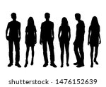 vector silhouettes of  men and... | Shutterstock .eps vector #1476152639
