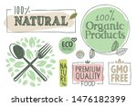 organic food  farm fresh and... | Shutterstock .eps vector #1476182399