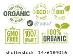 organic food  farm fresh and... | Shutterstock .eps vector #1476184016