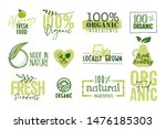 organic food  farm fresh and...   Shutterstock .eps vector #1476185303