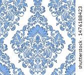 vector damask seamless pattern... | Shutterstock .eps vector #1476188423