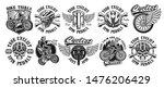 set of vintage designs of... | Shutterstock .eps vector #1476206429