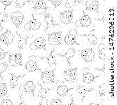 christmas seamless pattern with ... | Shutterstock .eps vector #1476206513