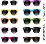 colorful sunglasses set... | Shutterstock .eps vector #1476206546