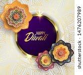happy diwali. paper graphic of... | Shutterstock .eps vector #1476207989