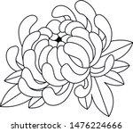 chryzantema japan flower tattoo ...   Shutterstock .eps vector #1476224666