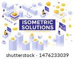set of isometric design... | Shutterstock .eps vector #1476233039
