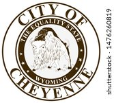 coat of arms of cheyenne is the ... | Shutterstock .eps vector #1476260819