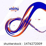 abstract curve lines and fluid... | Shutterstock .eps vector #1476272009