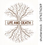 tree of life  life and death ... | Shutterstock .eps vector #1476276269