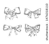 bow sketch isolation on a white ... | Shutterstock .eps vector #1476318110