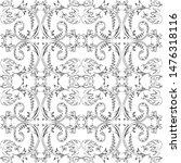 vintage seamless pattern.... | Shutterstock .eps vector #1476318116