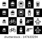 minimal transportation icons | Shutterstock .eps vector #147633254