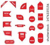 tags set. vector badges and... | Shutterstock .eps vector #1476335156