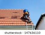 worker on the roof | Shutterstock . vector #147636110