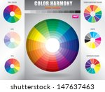 color harmony   color wheel... | Shutterstock .eps vector #147637463